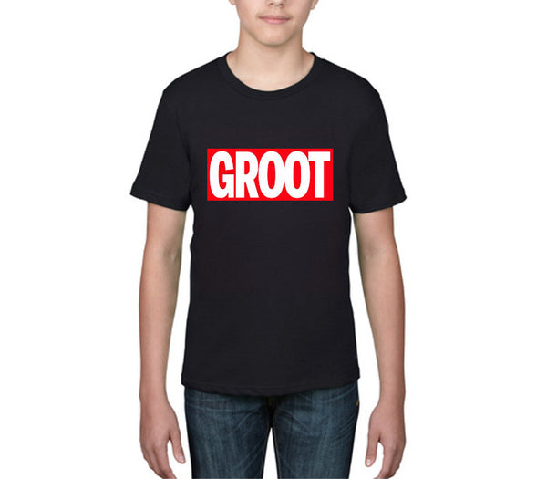 Kids 'GROOT' Guardians of the Galaxy - Black T-shirt