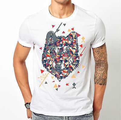 White Wolf T Shirt Size S M L XL XXL Printed Patterned Colourful Top New Animal