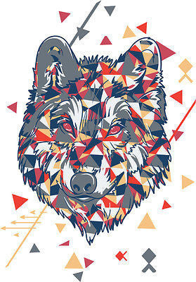 Black Wolf T Shirt Size S M L XL XXL Printed Patterned Colourful Top New Animal