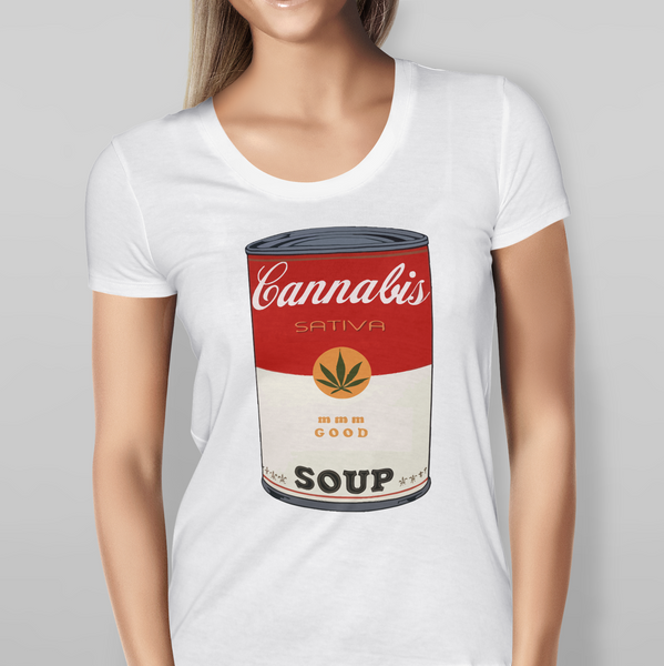 Womens Cannabis Soup White T-shirt