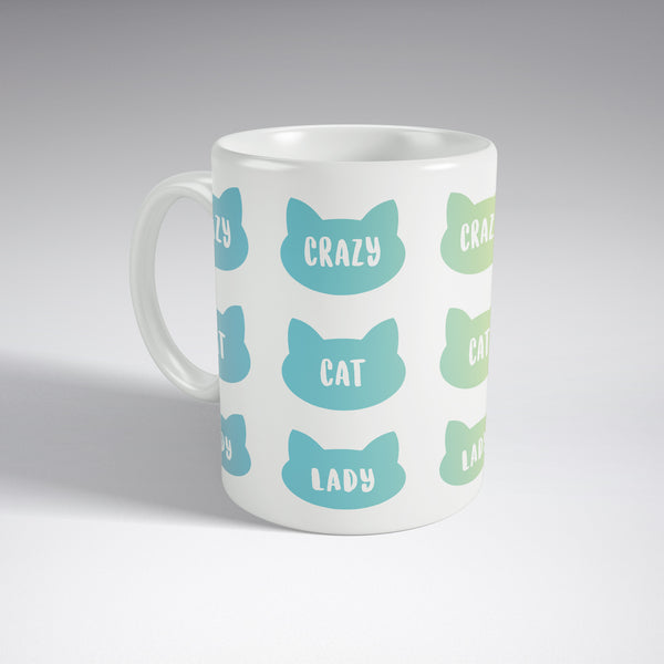 'Crazy Cat Lady' Pastel Full Wrap Mug