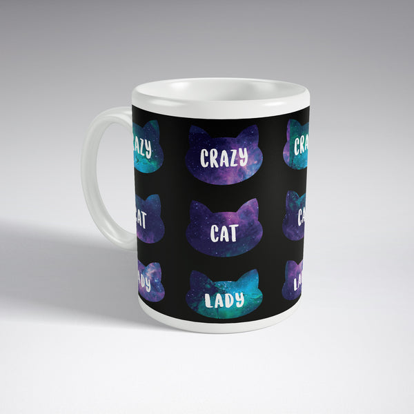 'Crazy Cat Lady' Space Nebula Full Wrap Mug