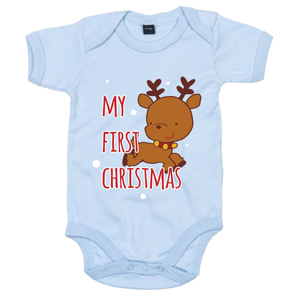 'My First Christmas' Reindeer babygrow