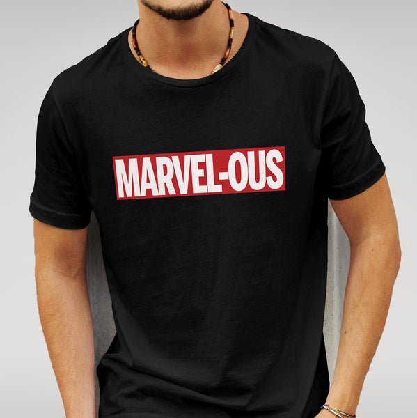 'MARVEL - OUS' Marvel - Black T-shirt