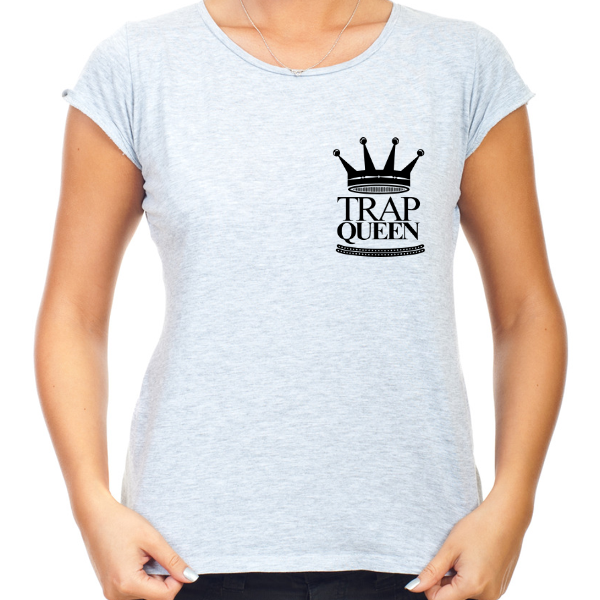 Women's Grey Trap Queen T-Shirt