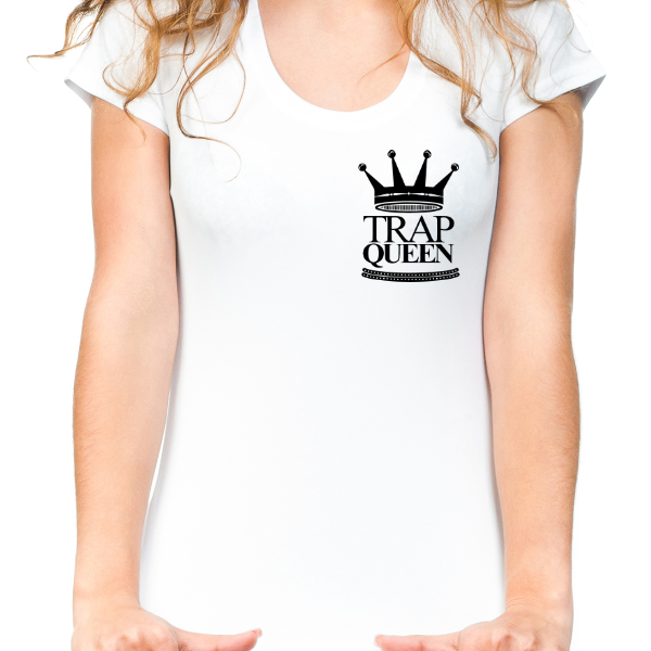 Women's White Trap Queen T-Shirt