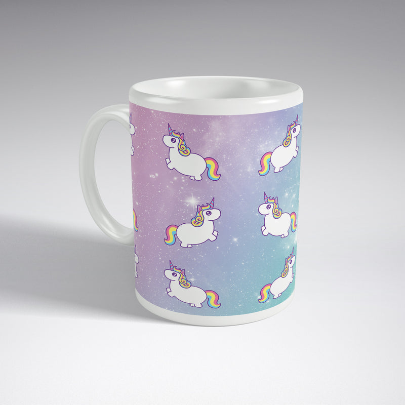 Pastel Unicorns In Space Full Wrap Mug