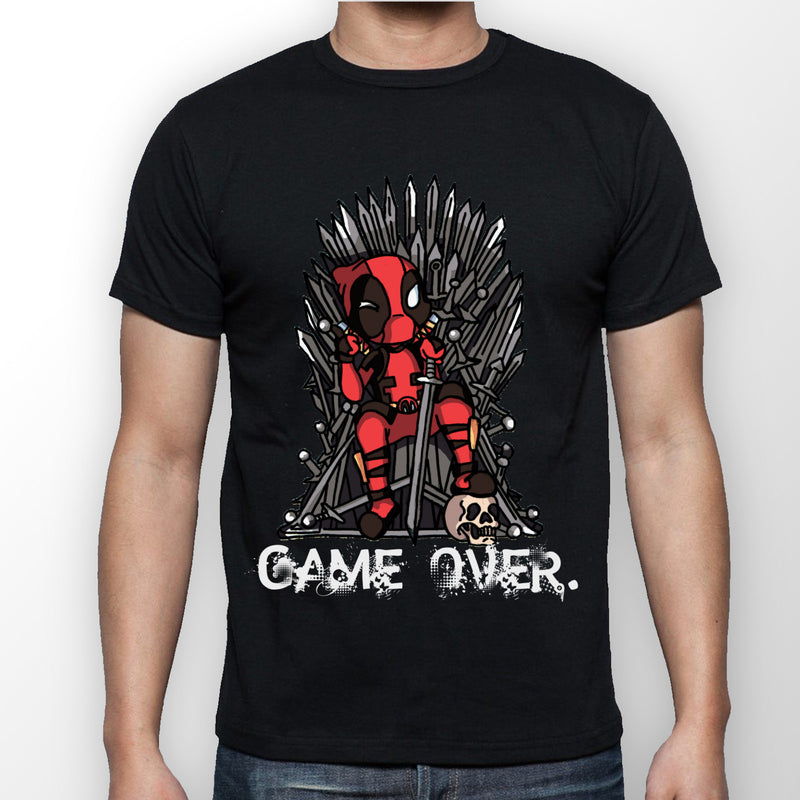 Black 'Game over' T-shirt