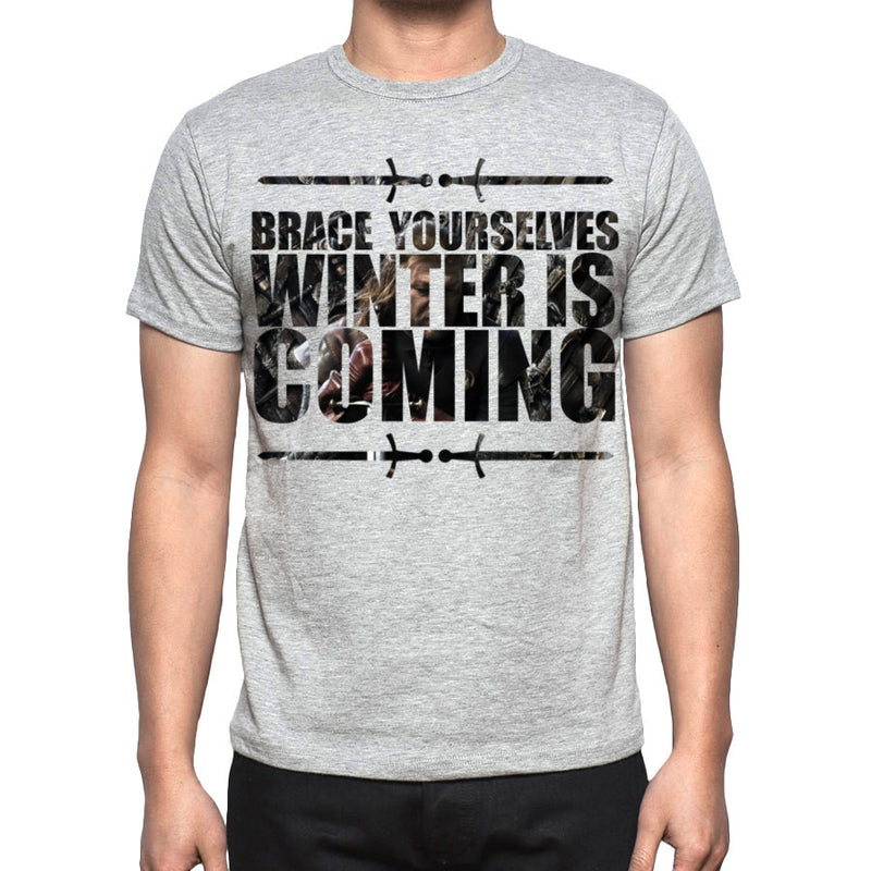 Grey Men's Winter is coming Game of Thrones T-shirt