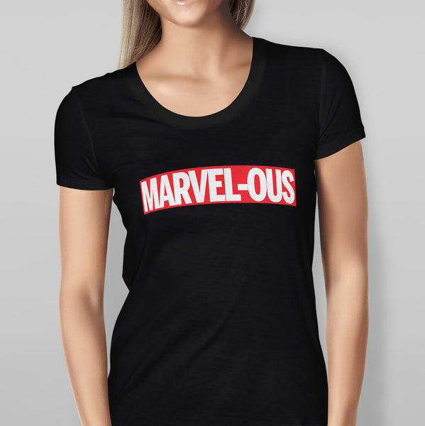 Womens 'MARVEL - OUS' Marvel - Black T-shirt