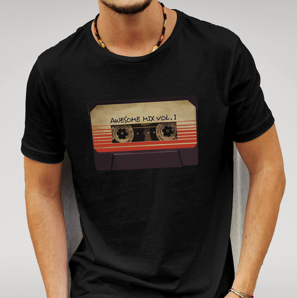 'Awesome Mix Vol 1' Guardians of the Galaxy - Black T-shirt