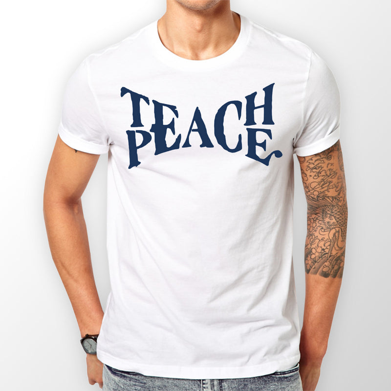 Men's White Teach Peace T-shirt