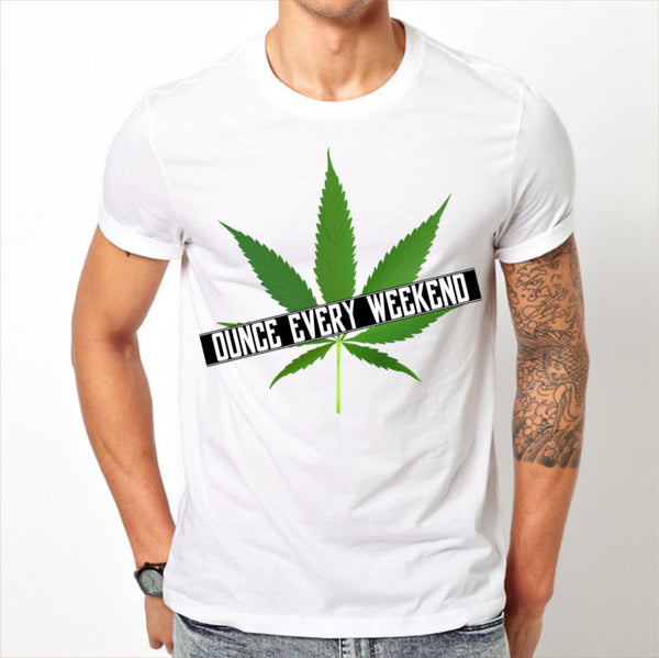 Men's White Ounce every weekend T-shirt Sizes S M L XL XXL Stoner Pot Cannabis