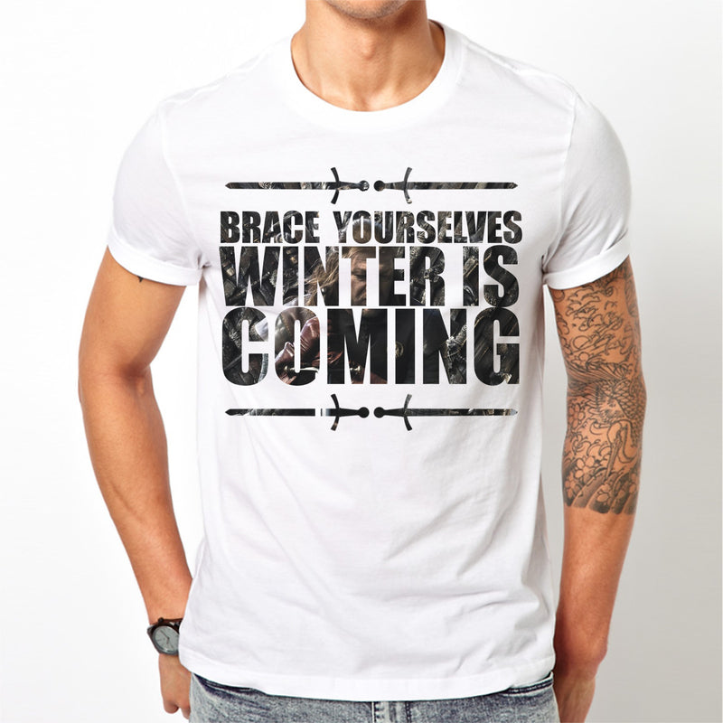 White Men's Winter is coming Game of Thrones T-shirt
