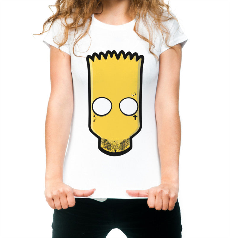 Women's 'fall out Bart' t-shirt