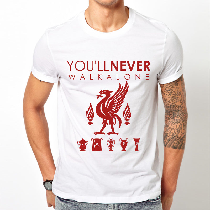 White Liverpool FC T Shirt YNWA