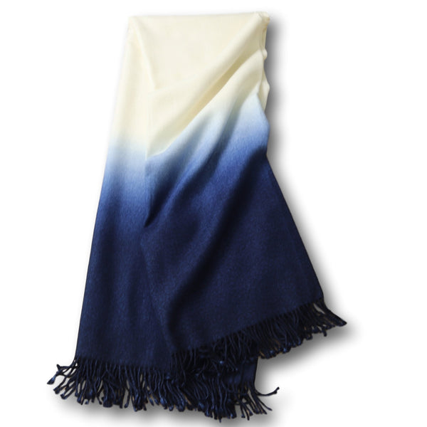 Dip Dyed Throw Blankets
