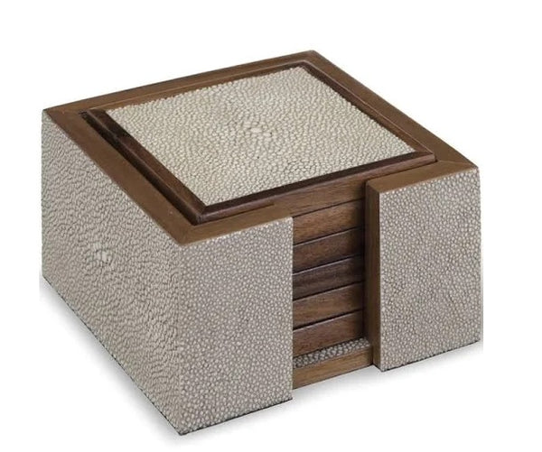 Faux Shagreen Coaster Set