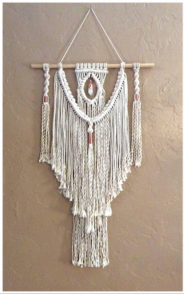 Macrame Crystal Wall Hanging
