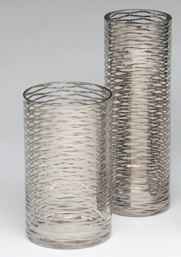 Glass and Silver Vases