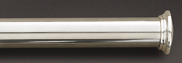 Curtain Estate Extension Rod Silver