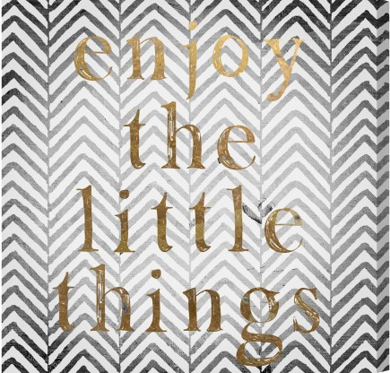 """Enjoy The Little Things"" Canvas Print"