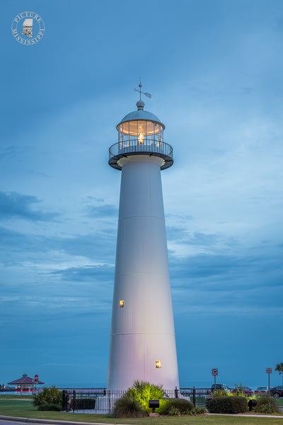 Biloxi Lighthouse after Sunset – Picture Mississippi