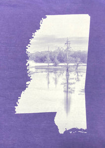 "Long Sleeve Picture Mississippi ""Lake"" T-shirts"