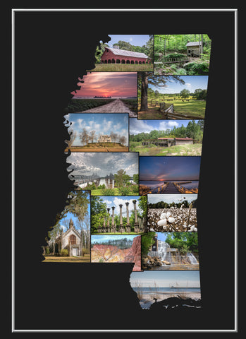 Picture Mississippi Collage Note Cards
