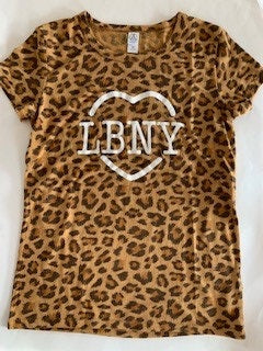 LBNY Heart Leopard Short Sleeve T-Shirt
