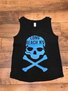 New Skull Ladies Tank Top Long Beach NY T-Shirt