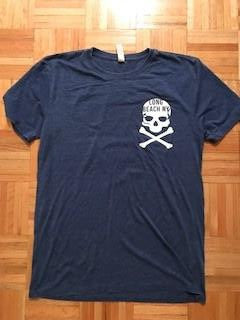 New Skull Short Sleeve Long Beach NY T-Shirt