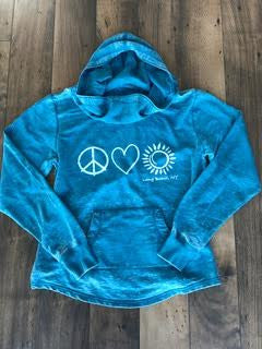 Peace, Love, Sun Cowl Neck Sweatshirt