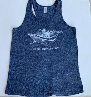 Long Beach, NY Whale Mural designed by Juliet Schreckinger Ladies Shirts