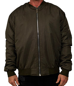 Reves Paris Olive Bomber Jacket