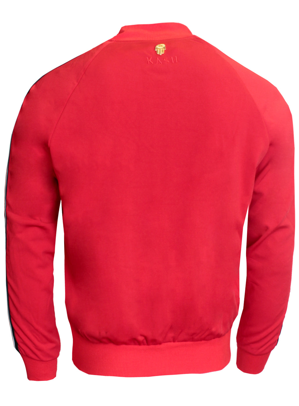 Men's Long Sleeve AF Track Jacket with Side Stripes-Red