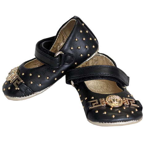 Baby Girl Embellished Medusa Crib Shoes