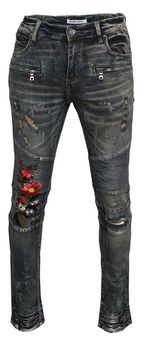 EMBELLISH COOKIE DENIM