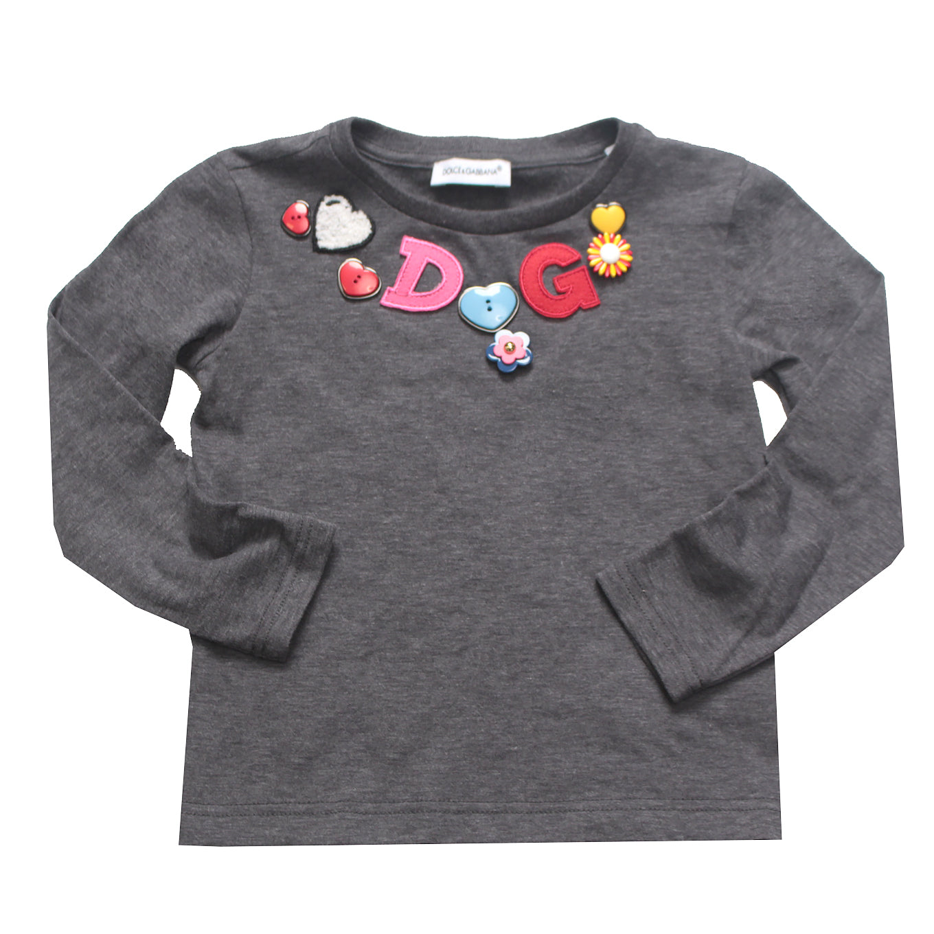 Kids-Girls Back to School Long Sleeve T-Shirt-Grey