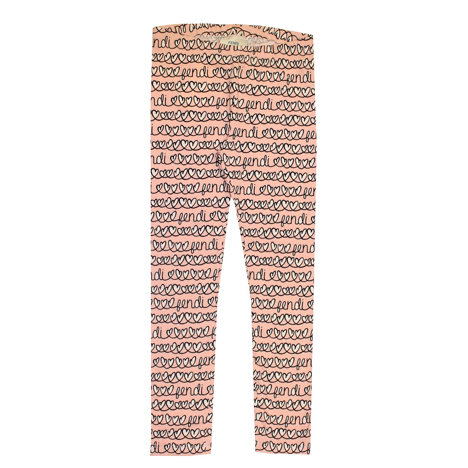 Girls All Over Heart Print Leggings