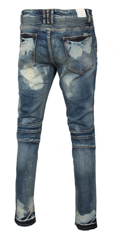 EMBELLISH Gambino Biker Denim