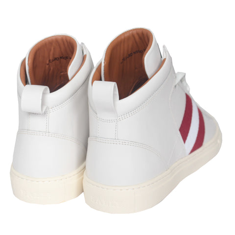 Men's Calf Leather High Top Sneakers| White