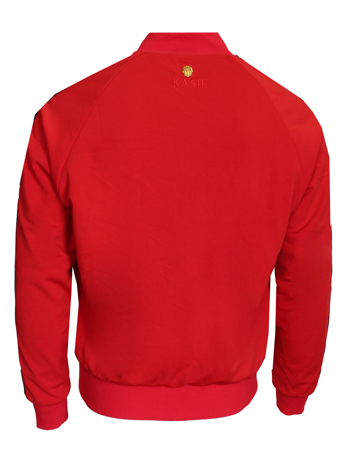 Men's Long Sleeve Icon Track Jacket with HAMSA Hand-Red
