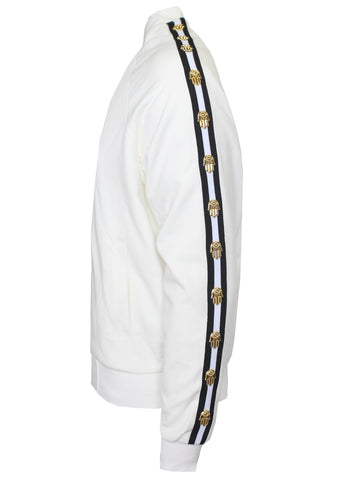 KASH Icon Track Jacket with HAMSA Hand|White