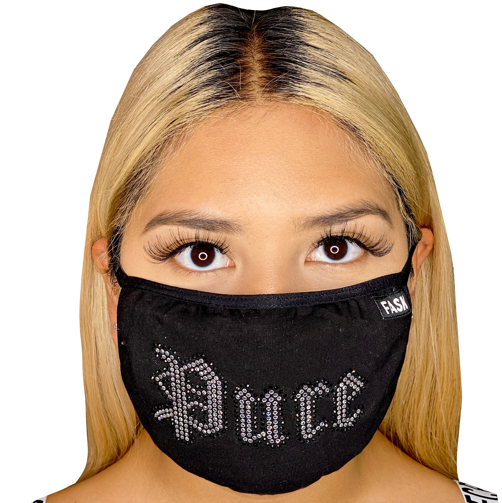 FASK Pure Stoned Mask with Filter-Black