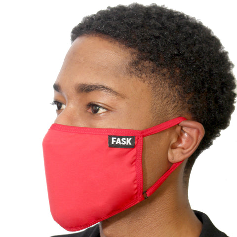 FASK Clean Cotton 2.0 Mask with Interchangeable Filter and Adjustable Size Strap