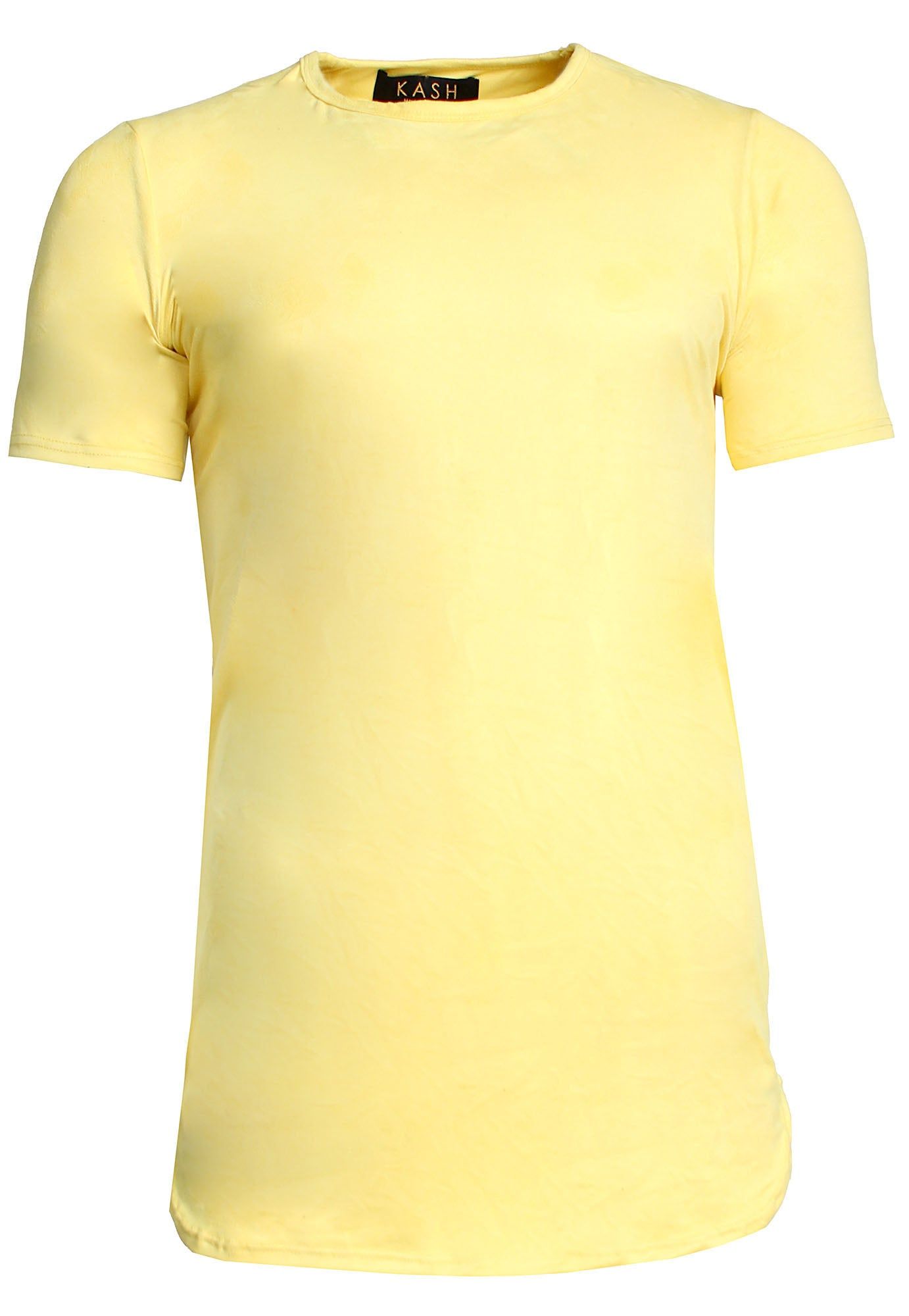 Elongated Stretch Suede Yellow Tunic