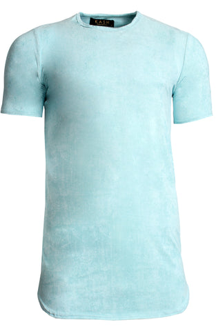 Elongated Stretch Suede Teal Tunic
