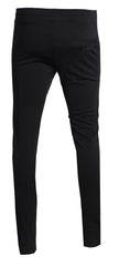 Men's Icon Track Pants with HAMSA Hand and Side Stripes-Black