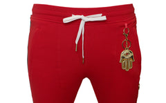KASH Icon Track Pants with HAMSA Hand| Red